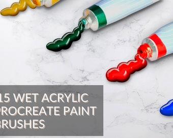 Glossy Acrylic Brushes for Procreate