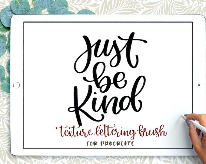 Textured Procreate Lettering Brushes, Grain Procreate Calligraphy, iPad Lettering Brushes Rustic