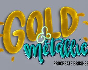 Metallic Gold Brushset