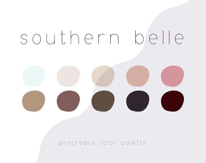 Southern Belle Procreate Color Palette