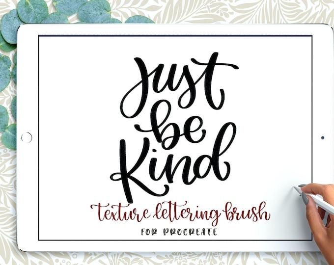 Textured Lettering Brush
