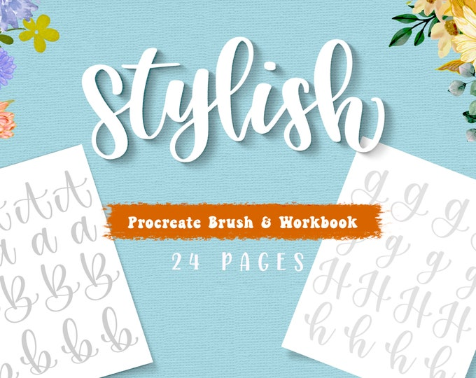 Stylish Lettering Workbook