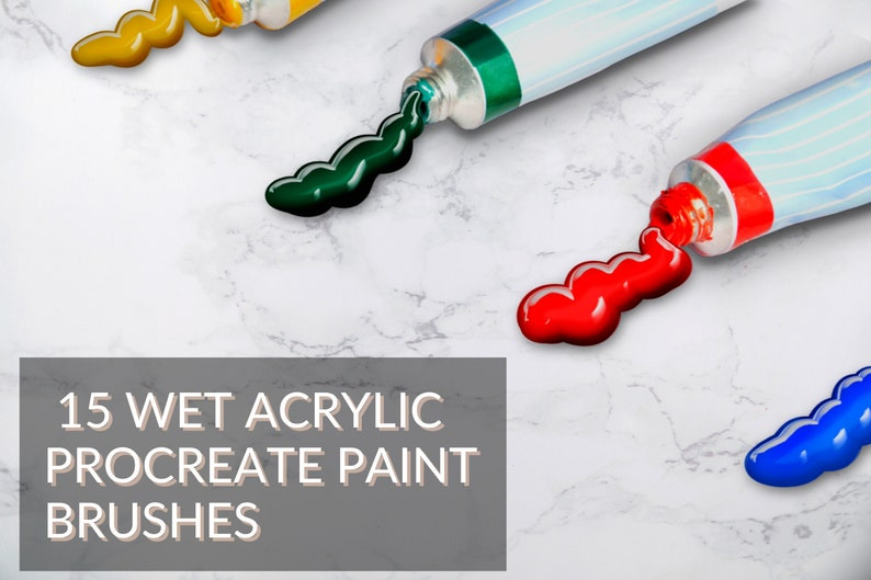 Procreate App Metallic-Style Brush 15 Lettering Procreate Brushes 3D Acrylic Procreate iPad Lettering Brushes