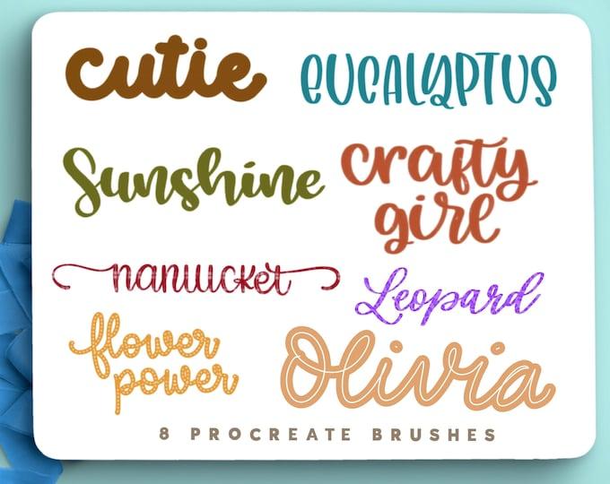 Procreate Lettering Brush Set
