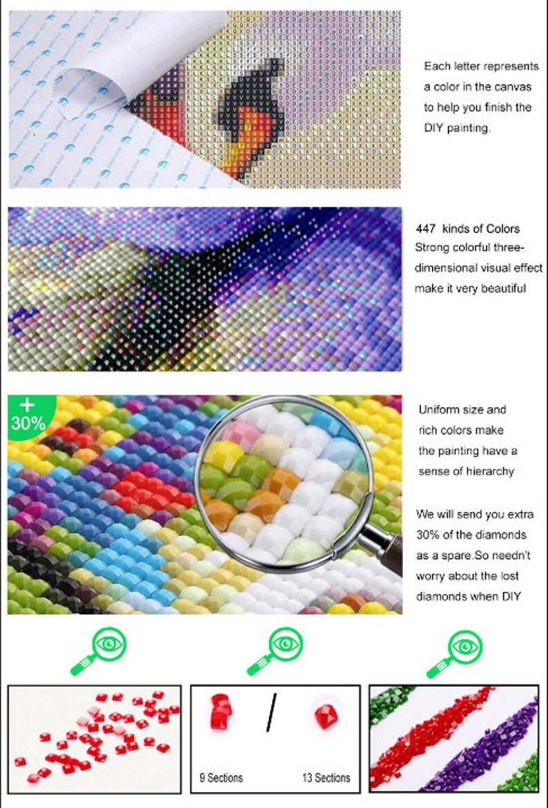 5D DIY diamond painting kit Beautiful waterfall diamond embroidery home decoration mosaic pattern cartoon wall painting