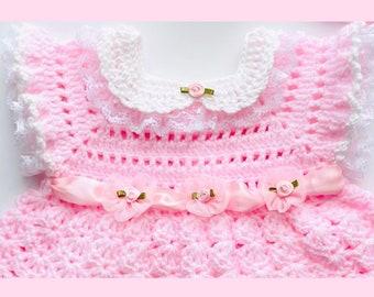 Digital PDF Crochet Pattern: Crochet baby dress, Crochet frock for girls with follow along video tutorial, Crochet for baby patterns