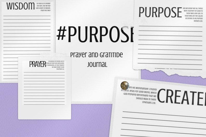 Prayer and Gratitude Journal / Purpose Journal / Printable / image 0