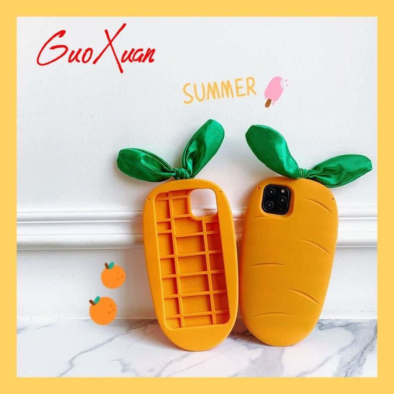 Funny 3D Carrot Silicone Cover for huawei p40pro p30 mate 30 cartoon Shockproof case for nova 6 5 4 3 3i honor 20 9x 8x y9 coque