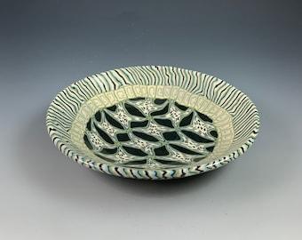 Nerikomi Bowl, stoneware, colored clays, handbuilt, ceramic