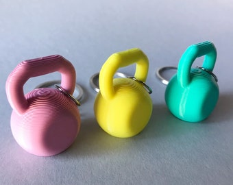Kettlebell Keychain / Powerlifting / Weightlifting / Crossfit / Fitness Lover / Funny Gift / Miniatures / PLA