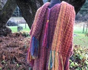 Classic hand-woven mohair ruana