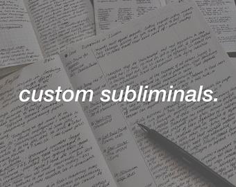 custom subliminals