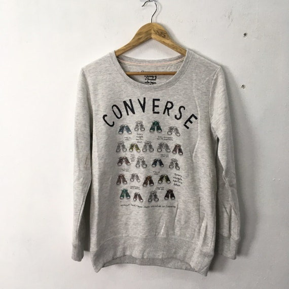 Converse Shoes Design Multicolor Crewneck