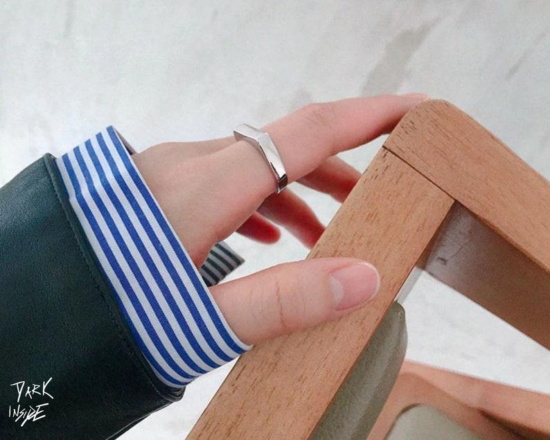 Vintage Antique Punk Goth Geometric Vintage Ring Resizable Metal Pendant Handmade Finger For Men Women Multi size Girl Gothic Hip Hop