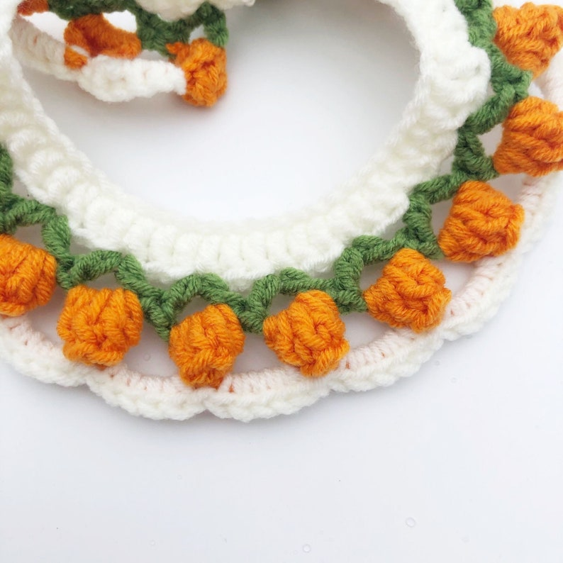 Crochet Tulip Pet Collar