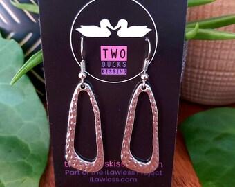 Silver Geometric Dangle Earrings for Women! Geometric earring - Dangle earrings - Australian seller -Contemporary jewellery - Free Postage