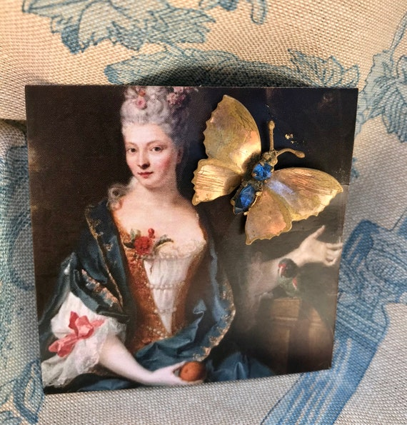 French 1930's Butterfly Brooch