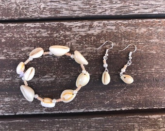 beach bracelet and earring set (aloha range)