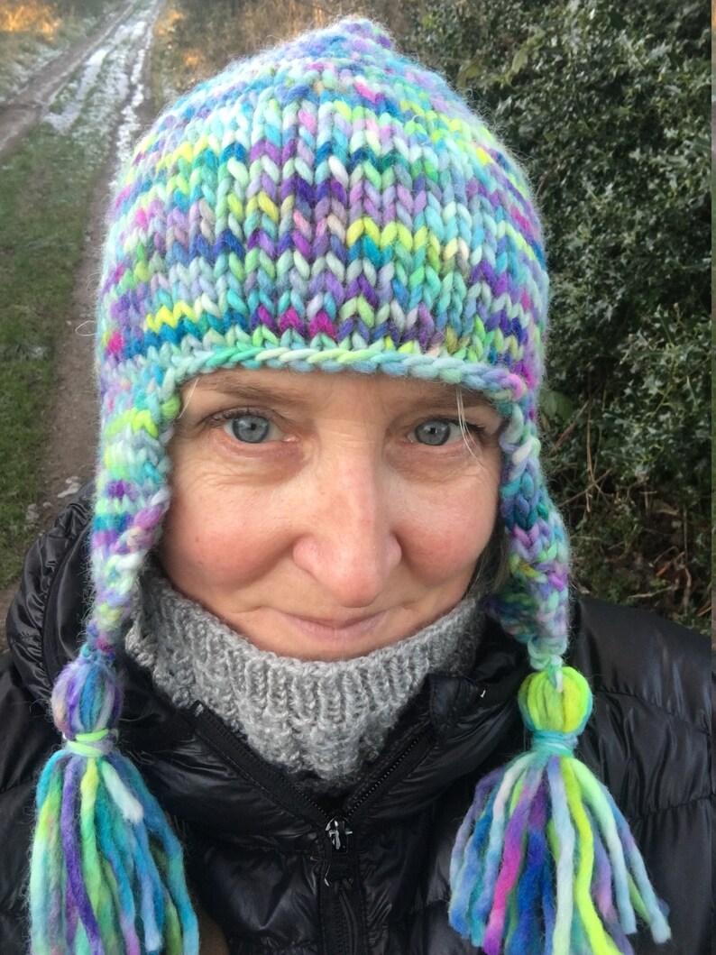 Peruvian ski hat knitting pattern