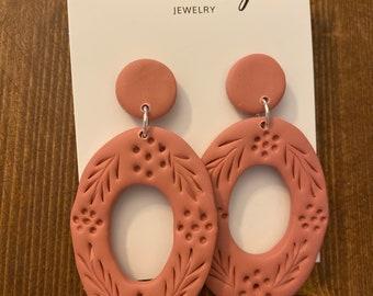Rusty Pink statement earrings