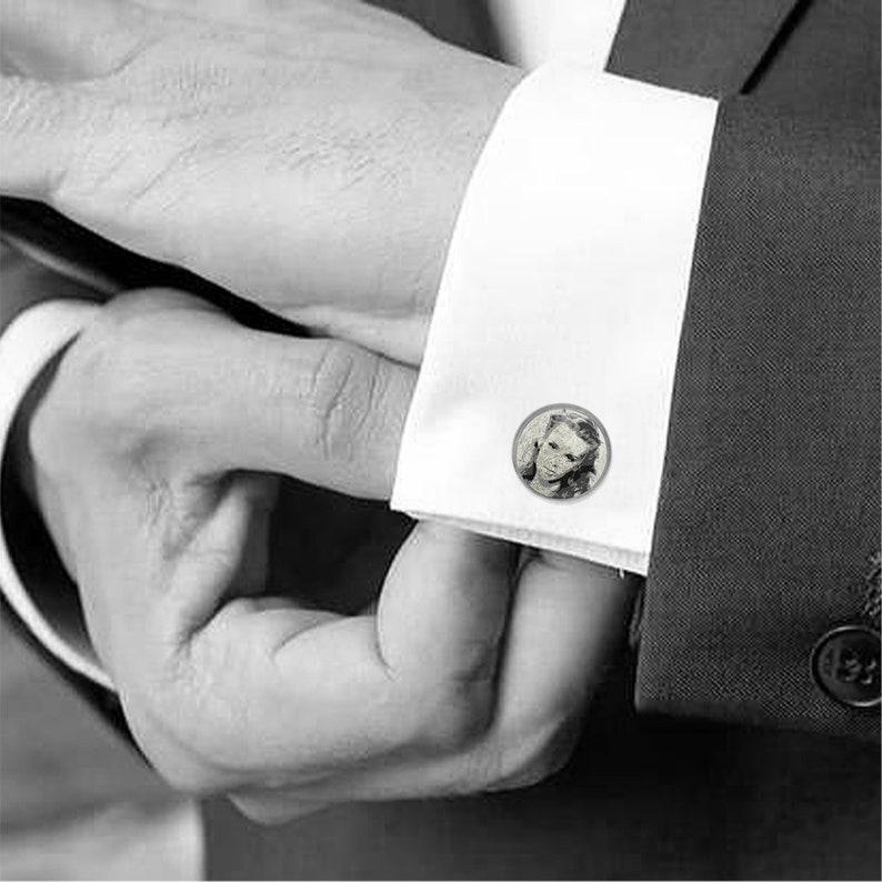 custom made cufflinks handmade Australia Gold Cufflinks Your text MFY81 personalised gift photo Personalised cufflinks