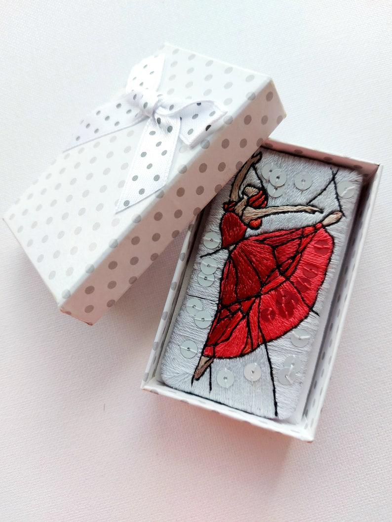 Dancer hand embroidered brooch Ballerina pin Brooch ballet dancer Gift idea for Dancer