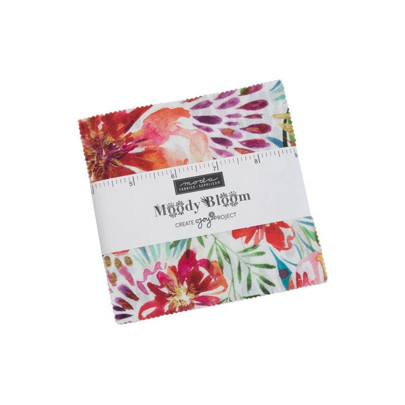 Charm Pack 2980PP Moda Precuts by Bunny Hill for Moda MOODY BLOOMS 42 piece 5x5 charm pack