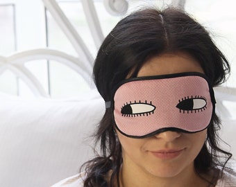 Luxury velvet sleep mask with hand embroidery bag eye mask for women personalized sleep mask eyelashes bag