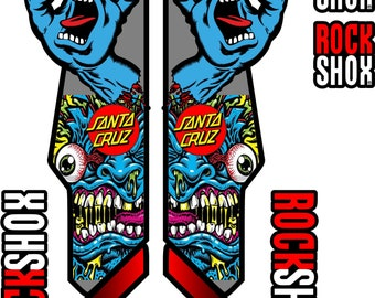 ROCK SHOX FORK fox Stickers Decals Mountain Bike Down Hill MTB #b0103
