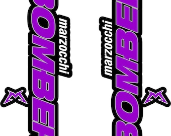 Marzocchi Bomber Fourche//Suspension autocollants decal Kit Bicycle Decal MTB #b0139