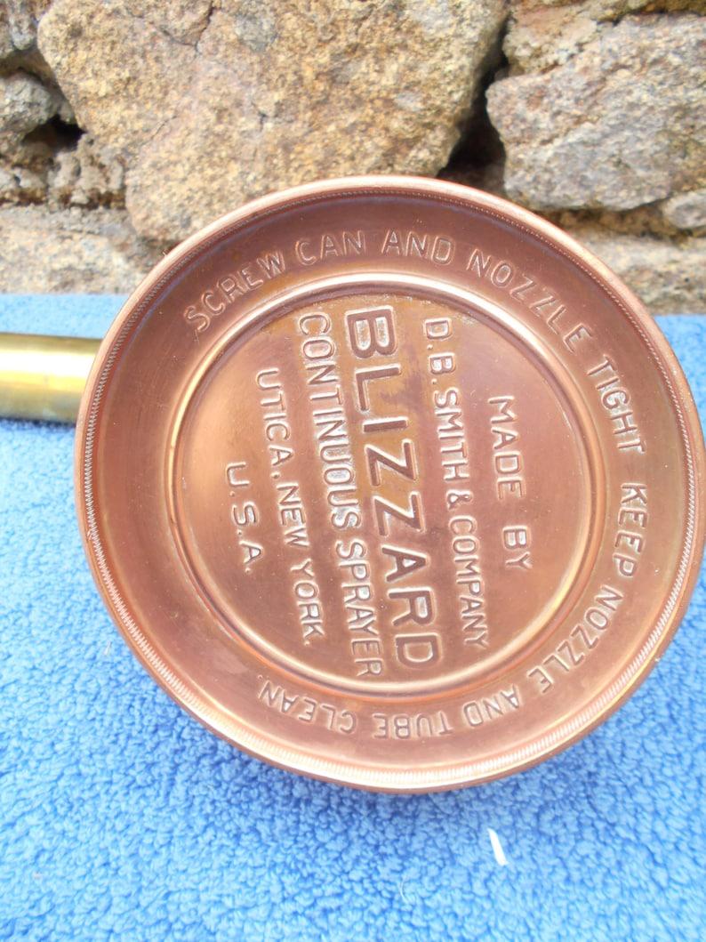 Vintage American Blizzard Copper Plant Sprayer