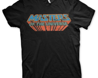 Licensed Masters Of The Universe Washed Logo Baseball 3//4 Sleeve T-Shirt S-XXL