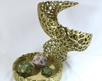 Alien Snake Dice Rolling Tower for RPG Tabletop Gaming - 3D Printed