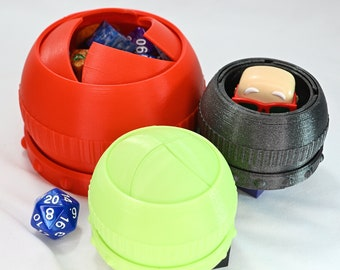 Iris Box Cases for Dice, Jewelry, Knick-Knacks, Sci-Fi and Secret Stuff - Mechanical, 3D Printed, and Very Cool!