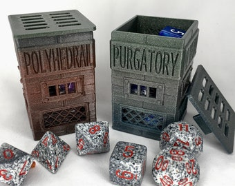 Polyhedral Purgatory Dice Jail for Naughty TableTop Gaming Dice