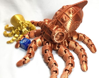 Giant Mecha Steampunk Octopus Fidget Friend for Big Fidgeting or Decoration