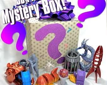 3D Print MYSTERY BOX! Printed Minis, Fidget Toys, Dice Towers & Jails, Kitties, Dragons, Lizards, and MORE! (Huge Discounts on Cool Prints!)