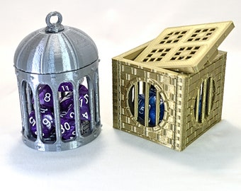 Dice Jails and Figurine Prisons - The Kaer Rune Cage Collection - For Tabletop Role Playing Games like Dungeons and Dragons or Warhammer