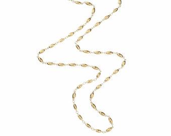 Gold Long Layering Pepin Chain