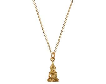Gold Buddha Pendant