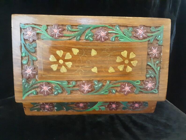 Handpainted Wooden Jewelry box Handmade in India