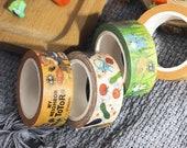 Totoro Washi tape, decorative washi tape, colourful tape, stationary, gift tape, gift ideas, Anime, Manga