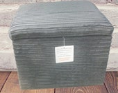 Footstool With Storage In Charcoal Grey Jumbo Cord 18 quot x 18 quot x 17 quot High