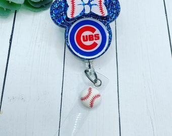 Baseball team Retractable ID Badge reel