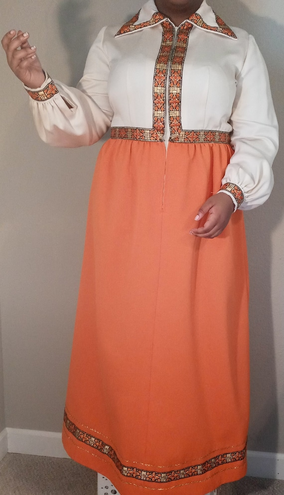 Beautiful Floor Length Vintage Dress