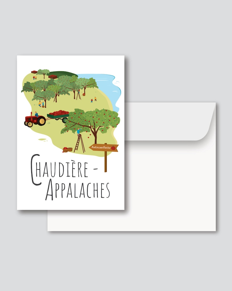 Greeting card  Illustration Chaudière-Appalaches image 0