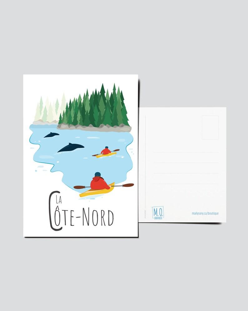 Quebec Postcard  Illustration Côte-Nord  Quebec Region  image 1