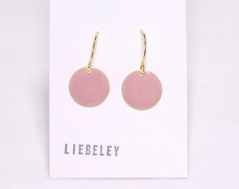 Earrings enamel pink