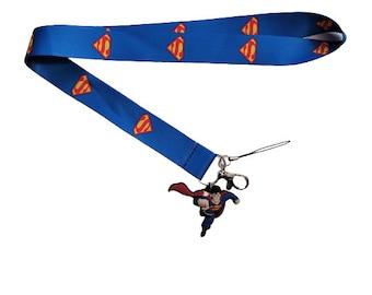 Superman Inspired Ribbon Lanyard