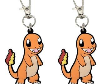 Zipper Pull Jigglypuff Badge Reel Accent Purse Collar Charm Generic Handmade Set of 2